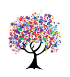 Abstract multicolor tree Stock Photo