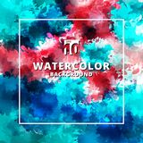 Abstract multicolor watercolor stains textures and background. vector illustration