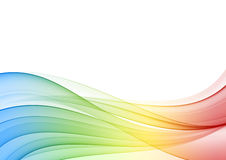 Abstract multicolor wave. Background, illustration Stock Photo