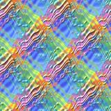 Abstract multicolor wave surface pattern, Colorful relief wavy texture background, Rainbow colored 3D seamless illustration Stock Images