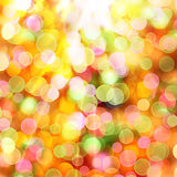 Abstract multicolored background with blur bokeh Stock Photography