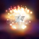 Abstract multicolored background with bokeh lights Stock Image