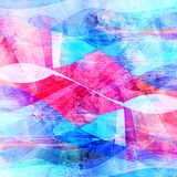 Abstract multicolored background with different wavy elements. Abstract watercolor bright background with different colorful wave elements royalty free illustration