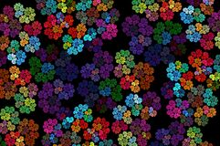 Abstract multicolored background of flowers. Fractal pattern for creativity and design