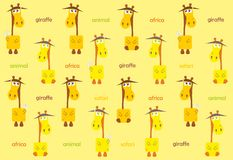 Abstract multicolored background from giraffe Royalty Free Stock Image