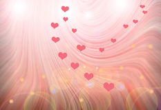 Abstract  multicolored  background with hearts Stock Photo
