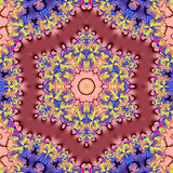 Abstract multicolored background. A multi colored background with a hexagon shape stock illustration