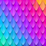 Abstract multicolored background. Paper colorful artificial squama or plumage. Vector illustration Royalty Free Stock Photography
