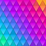 Abstract multicolored background. Paper colorful artificial squama or plumage. Vector illustration. Paper triangles background Royalty Free Stock Photo