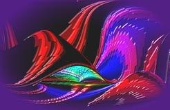 Abstract multicolored behang als achtergrond, in de schaduw gesteld, illustation Stock Illustratie