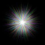 Abstract multicolored blast design background Stock Photo