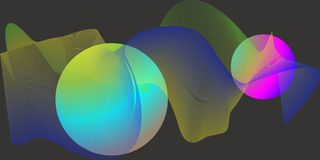 Abstract balls and blends with astral light stock illustration
