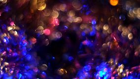 Abstract multicolored bokeh background stock footage