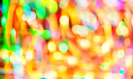 Abstract multicolored bokeh lights stock photo