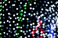 Abstract of multicolored circular bokeh Royalty Free Stock Images