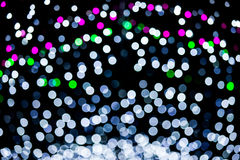 Abstract of multicolored circular bokeh Royalty Free Stock Photo