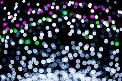 Abstract of multicolored circular bokeh. Photo abstract of multicolored circular bokeh background at night of Christmaslight royalty free stock photo