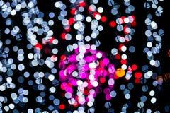 Abstract of multicolored circular bokeh. Photo abstract of multicolored circular bokeh background at night of Christmaslight Royalty Free Stock Image