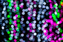 Abstract of multicolored circular bokeh Stock Photo