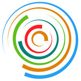 Abstract multicolored circular element. Concentric circles, ring Stock Photography