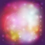 Abstract multicolored defocused lights background. Vector illustration Royalty Free Stock Photos