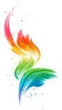 Abstract multicolored element, gestileerd ontwerpvoorwerp Stock Illustratie