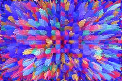 Abstract multicolored explosion. Texture with color abstractions Royalty Free Stock Photo