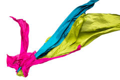 Abstract multicolored fabric in motion Stock Image