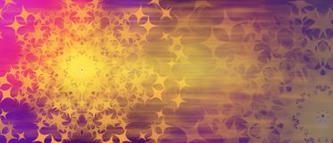 Abstract multicolored festive background purple yellow pink color stars in the form of the sun royalty free stock photos