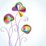 Abstract multicolored floral background Stock Images