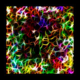 Abstract multicolored fractal background. Abstract multicolored fractal background square composition Vector Illustration