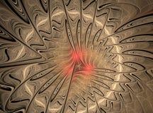 Abstract multicolored fractal computer geproduceerd beeld Vector Illustratie