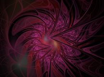 Abstract multicolored fractal computer geproduceerd beeld Royalty-vrije Illustratie