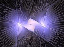 Abstract multicolored fractal computer geproduceerd beeld stock illustratie
