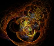 Abstract multicolored fractal patroon Royalty-vrije Stock Foto's