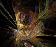 Abstract multicolored fractal patroon Stock Afbeeldingen