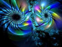 Abstract multicolored fractal patroon Stock Foto's