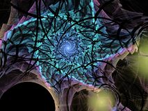 Abstract multicolored fractal patroon stock afbeelding
