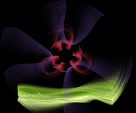 Abstract multicolored fractal patroon Stock Illustratie