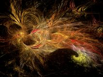 Abstract multicolored fractal pattern Stock Photo