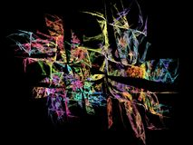 Abstract multicolored fractal pattern Royalty Free Stock Image