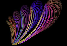 Abstract multicolored fractal pattern Royalty Free Stock Photo