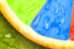 Abstract multicolored fruit background Stock Photo