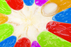 Abstract multicolored fruit background Royalty Free Stock Photos