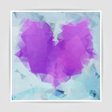 Abstract Multicolored geometric heart background with triangular Stock Photo