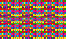 Abstract multicolored geometric seamless pattern Royalty Free Stock Image