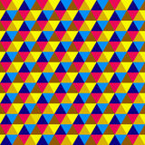 Abstract multicolored geometric seamless pattern Royalty Free Stock Photography