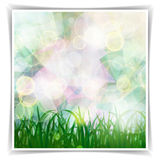 Abstract Multicolored geometric Spring background with grass sil Royalty Free Stock Photo