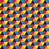 Abstract multicolored geometrisch naadloos patroon Stock Illustratie