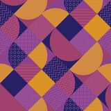 Abstract multicolored geometrisch patroon Stock Afbeelding